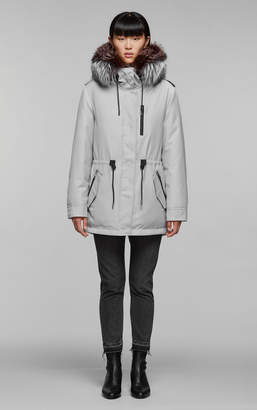 Mackage CHARA-DX hooded twill parka with removable fur trim
