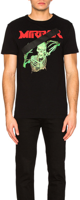 OFF-WHITE Skull Mirror Tee $314 thestylecure.com