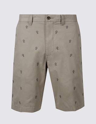 Marks and Spencer Pure Cotton Cactus Design Chino Shorts