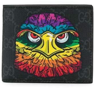 Gucci GG Supreme eagle print wallet