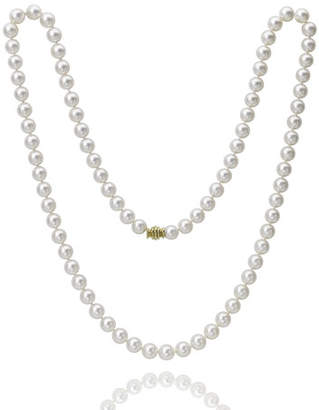 "Assael Akoya 32"" Akoya Cultured 8.5mm Pearl Necklace with Yellow Gold Clasp"