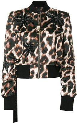 Philipp Plein leopard print cropped jacket