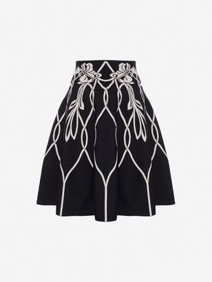 Alexander McQueen Art Nouveau Jacquard Mini Skirt