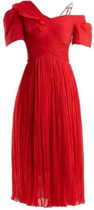 Preen by Thornton Bregazzi Cyra off-the-shoulder silk-chiffon dress
