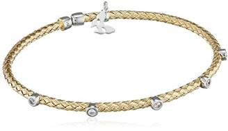 Vamp London Entwined Dainty 18ct Yellow Gold Plated Sterling Silver Bracelet ENB003-YG-C