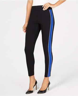 INC International Concepts I.n.c. Side-Stripe Skinny Pants