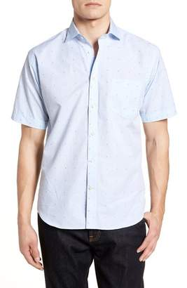 Thomas Dean Regular Fit Dot Sport Shirt