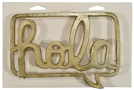 Designco Hola Cast Aluminum Decorative Wall Sculpture