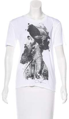 The Kooples Printed Short Sleeve Shirt