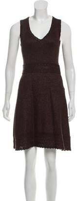 Andrew Gn Wool-Blend Mini Dress brown Wool-Blend Mini Dress
