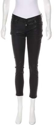 Hudson Low-Rise Leather Pants