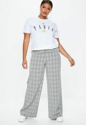 Missguided Plus Size Gray High Waisted Pants