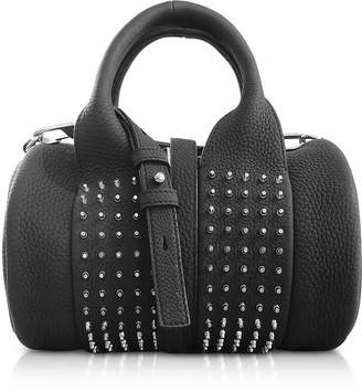 Alexander Wang Black Matte Leather Studs Baby Rockie Satchel Bag