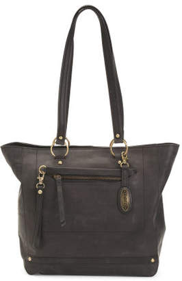 Distressed Leather Bronco Tote