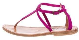 K Jacques St Tropez Suede Thong Sandals