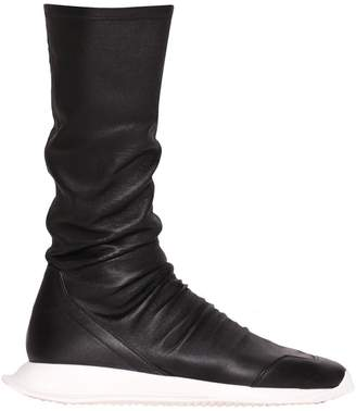 Rick Owens Oblique Stretch Runner Sneakers