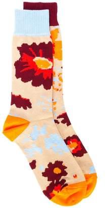 Sacai floral knit socks