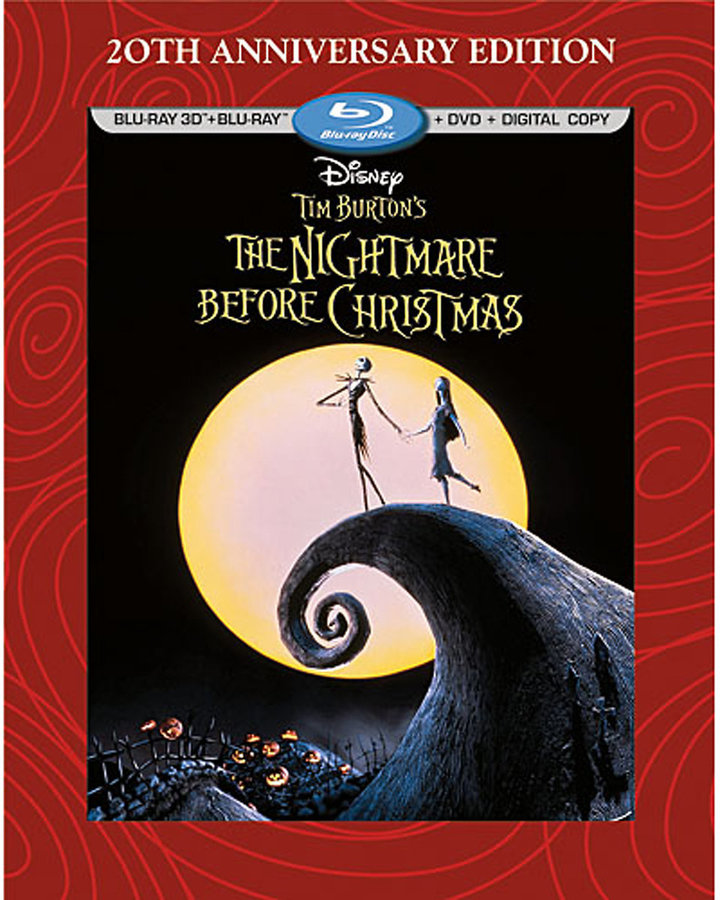 Tim Burton's The Nightmare Before Christmas 3-D Blu-ray 3-Disc Combo Pack