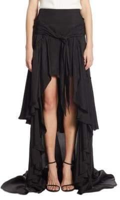 Amora Ruffled Hi-Lo Maxi Skirt