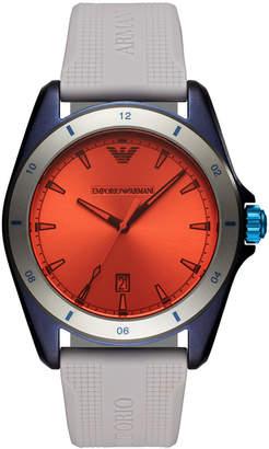 51823625531 at Macy s · Emporio Armani Men Gray Silicone Strap Watch 44mm