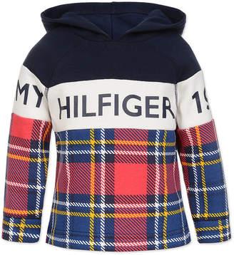 Tommy Hilfiger Baby Boys Plaid Colorblocked Fleece Hoodie