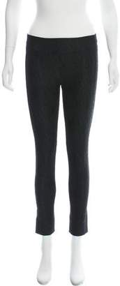 Diane von Furstenberg Embroidered Mid-Rise Skinny Pants