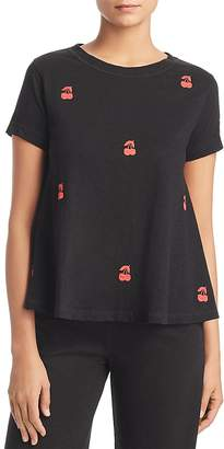 Lisa Todd Embroidered Cherry Swing Tee