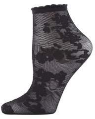 Natori Scarlet Lace Sheer Shortie Socks