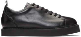 Ann Demeulemeester Black Leather Sneakers