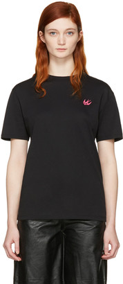 McQ Alexander McQueen Black Swallow Patch T-Shirt $160 thestylecure.com