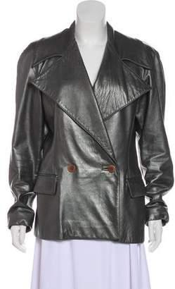 Ralph Lauren Purple Label Leather Notch-Lapel Jacket