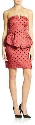 Ali Ro Strapless Peplum Dress $328 thestylecure.com