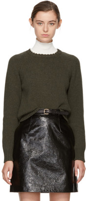 A.P.C. Green Stirling Sweater $310 thestylecure.com