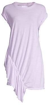 Current/Elliott Women's Pacific Avenue Linen & Cotton Ruffle Dress