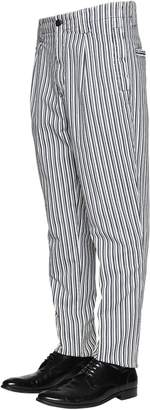 Etro Pinstriped Cotton Chino Pants