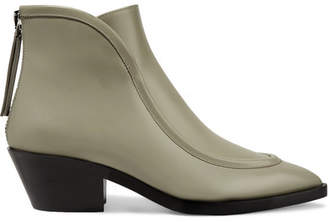 Jil Sander Leather Ankle Boots - Gray