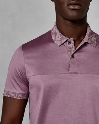 Ted Baker PIEZZA Printed collar polo shirt