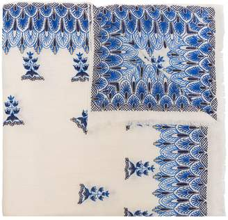Janavi forget-me-not cashmere scarf