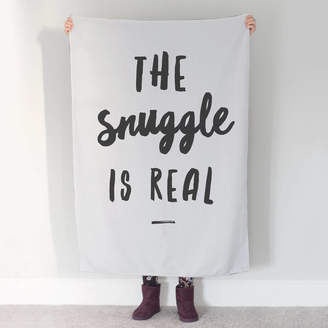 The Drifting Bear Co 'The Snuggle Is Real' Blanket Or Throw