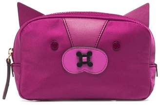 Anya Hindmarch Purple Fox Nylon Make Up Pouch