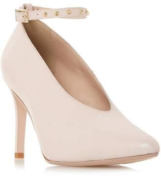 Dune Light Pink Leather 'Ara' High Stiletto Heel Court Shoes