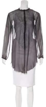 Raquel Allegra Sheer Tie-Dye Tunic