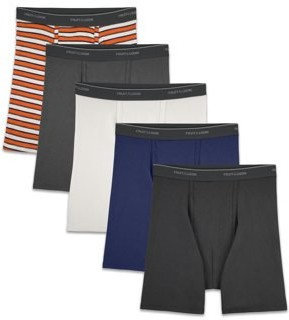 Fruit of the Loom Men's Dual Defense Support Pouch Assorted Boxer Briefs, 5 Pack