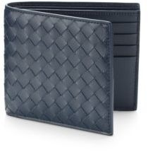 Bottega Veneta Intrecciato Leather Wallet $460 thestylecure.com