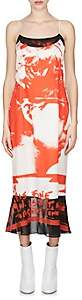 Maison Margiela Women's Crepe-Detailed Silk Cami Midi-Dress-White