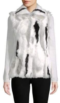Adrienne Landau Multi-Tone Dyed Rabbit Fur Vest