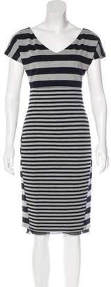 Max Mara Short Sleeve V-Neck Dress