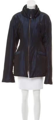 Dolce & Gabbana Long Sleeve Zip-Up Coat