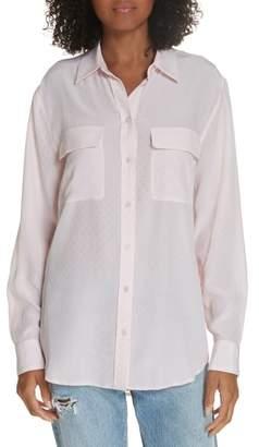 Equipment Signature Long Sleeve Silk Shirt