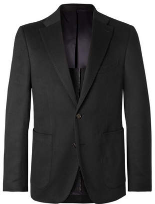 Privee Salle Black Lunt Slim-Fit Cashmere Blazer
